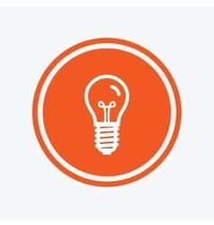 Light bulb icon Lamp E14 screw socket symbol vector image vector image