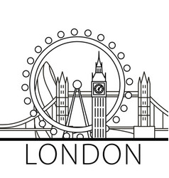 London city skyline vector