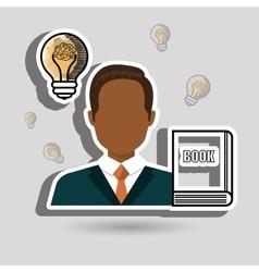 Man book idea icon vector