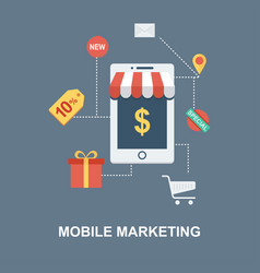Mobile marketing concept design vector