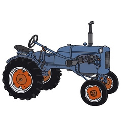 Old tractor vector image