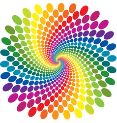 rainbow swirl abstract vector image