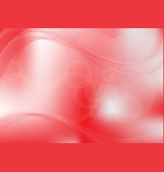 Red abstract circle and wave background vector