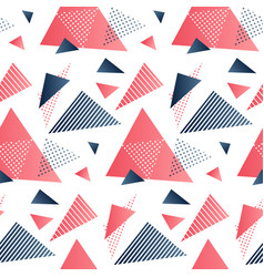 red and grey triangles vector image vector image