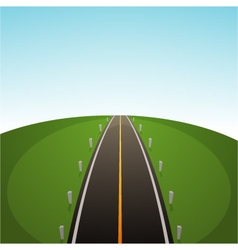 Road Over Field vector image vector image