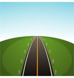 Road over field vector