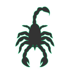 scorpion as scorpio vector image vector image
