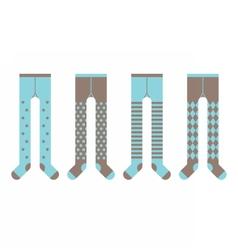 Set of children tights boy designs vector
