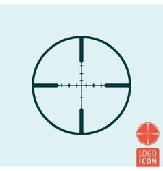 Target icon isolated vector