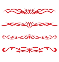 The Collection of the tattooes vector image vector image
