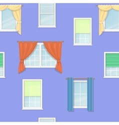 Windows curtains seamless background vector