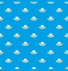 Women beach hat pattern seamless blue vector