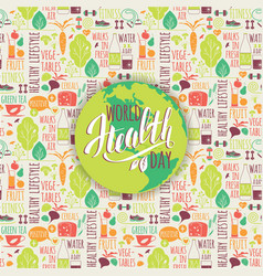 World health day concept vector