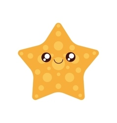 Sea star kawaii cute icon vector