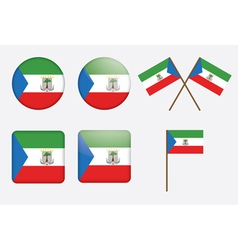 Badges with flag of equatorial guinea vector