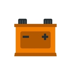 Machine battery icon flat style vector