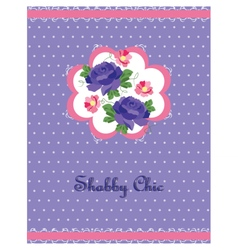 Shabby chic style card vector