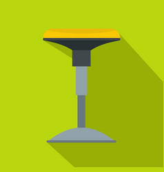 Yellow bar stool icon flat style vector