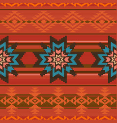 Traditional textile pattern in ethnic style vector