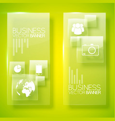 Creative business vertical banners vector