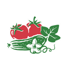 vegetable from farm vector image
