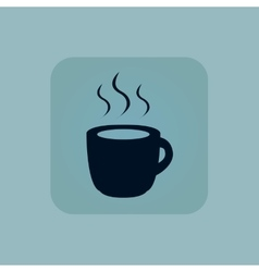 Pale blue hot drink icon vector