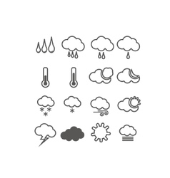 Icons weather set vector