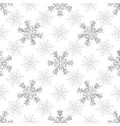 Seamless christmas white pattern vector
