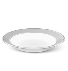 Simple classic soup plate isolated on white vector