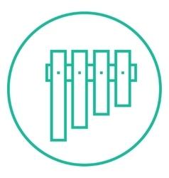 Vibraphone line icon vector