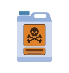 Poison container with the sign of life-threatening vector