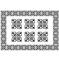 Monochrome border elements vector