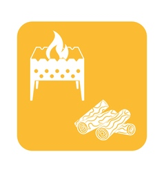 Brazier firewood icon vector