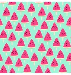 Sliced ripe watermelon seamless pattern vector