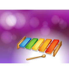 A colorful xylophone vector image