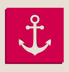 Anchor icon grayscale version of popart vector
