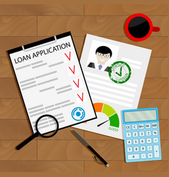 approved credit loan concept vector image