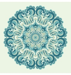 Beautiful blue ornament background vector image