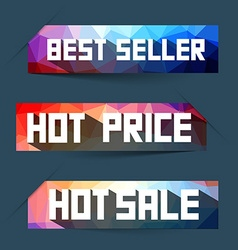Best Seller - Hot Price - Hot Sale Labels - Tags vector image