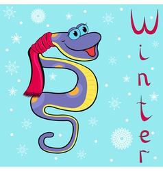 Boa winter vector