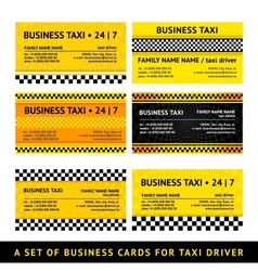 Business card taxi - seventh set vector image vector image