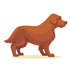 cartoon dog isolated vector image vector image