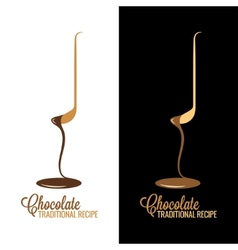 chocolate wrapper design menu background vector image