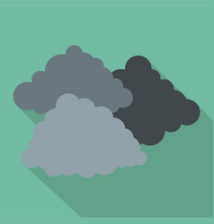 dark cloudy icon flat style vector image