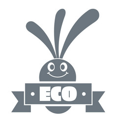 eco eggplant logo simple gray style vector image vector image