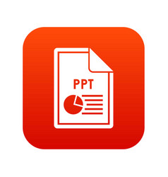 File ppt icon digital red vector