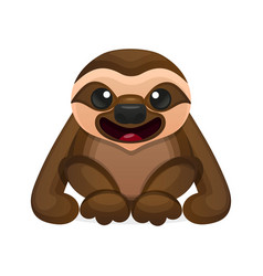 Happy cute sloth vector