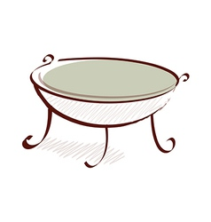 icon table vector image