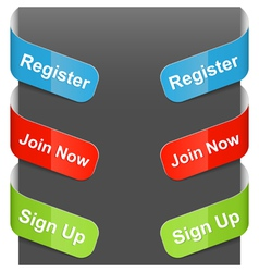 left right sign register join now sign up vector image