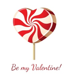 lollipop heart vector image vector image